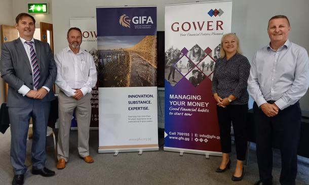 Gower presents to young members of GIFA about managing their money